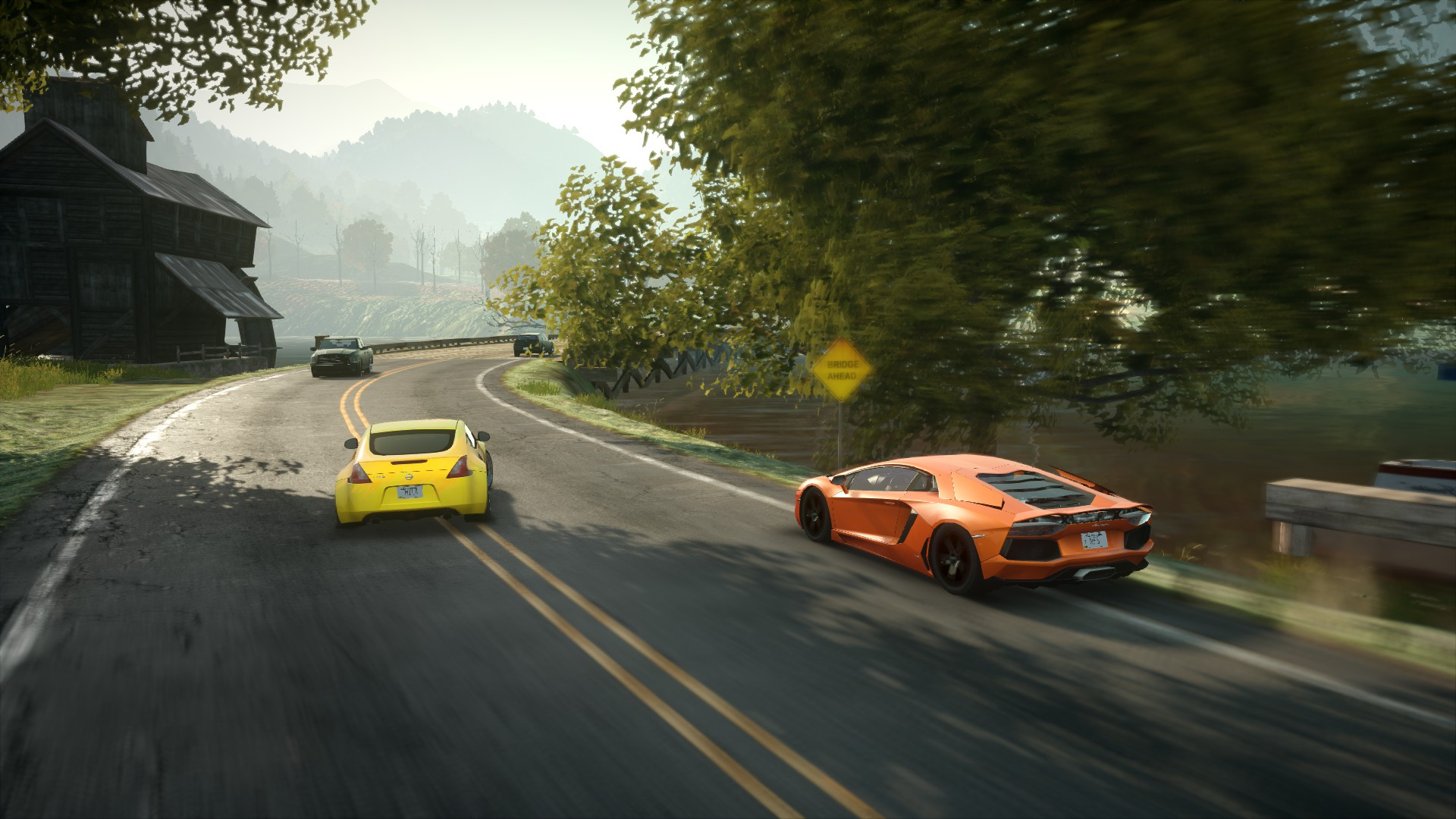 Bugatti veyronwide need for speed road back of